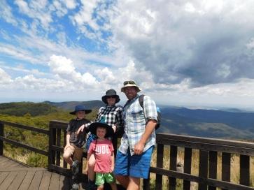 Family photo on Kaputar