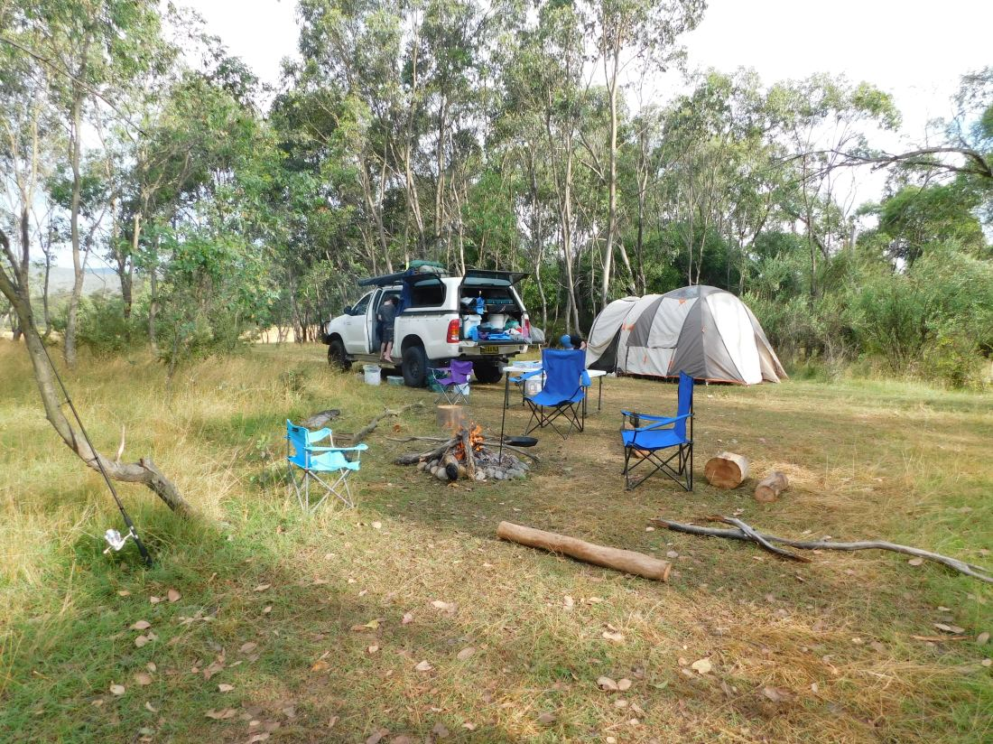 Great campsite at Tom Groggin Kosci right on the border of Vic