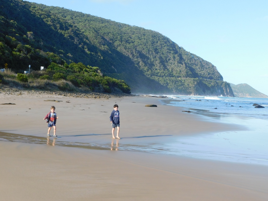 Jamiesons Beach with GOR cut into the cliff behind