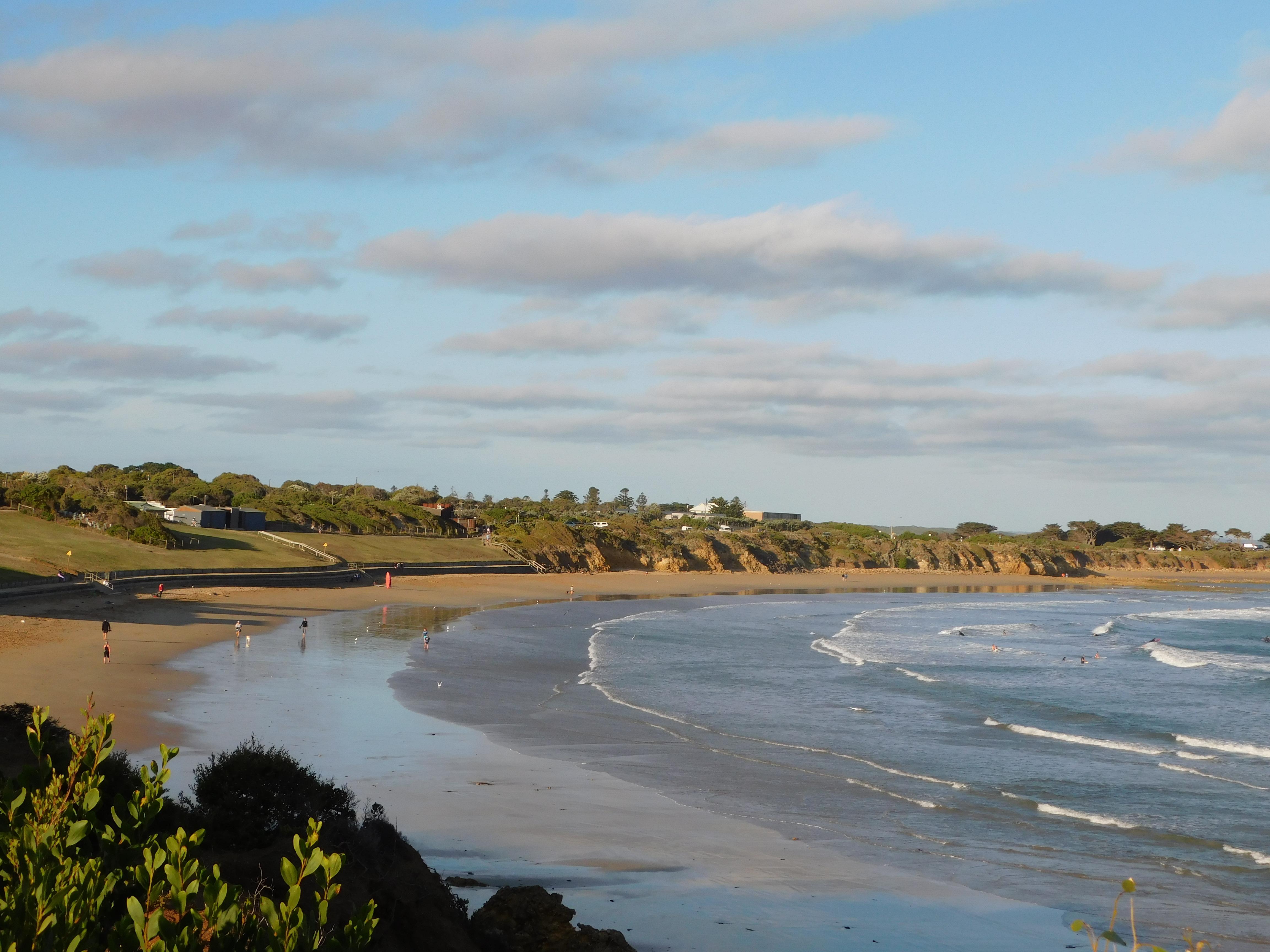 The beach at Torquay caravan park – JALC-OZ-2018