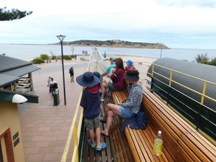 Top deck on the Victor Harbour carriage ride