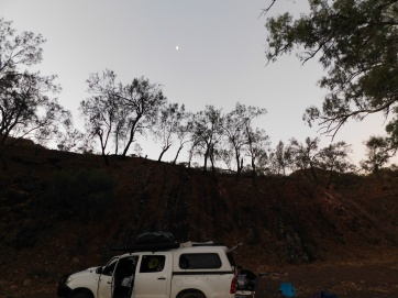 Flinders moon distant