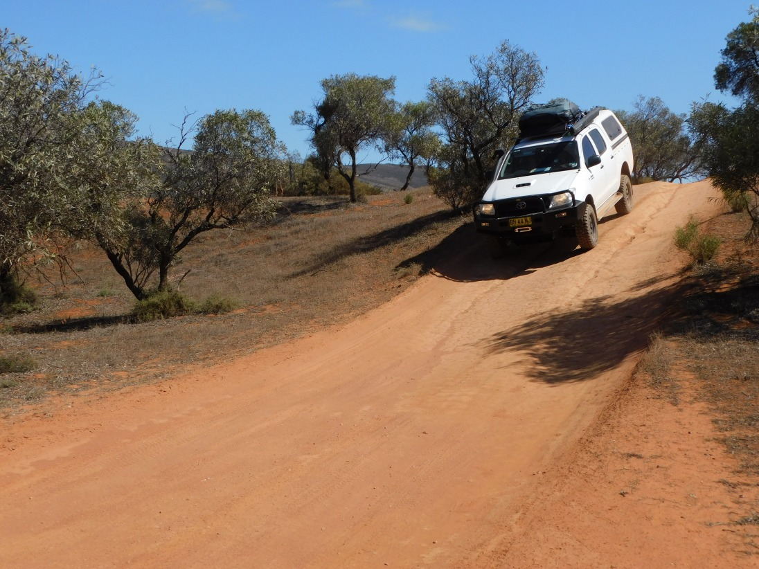 Gawler - track out to organ pipes