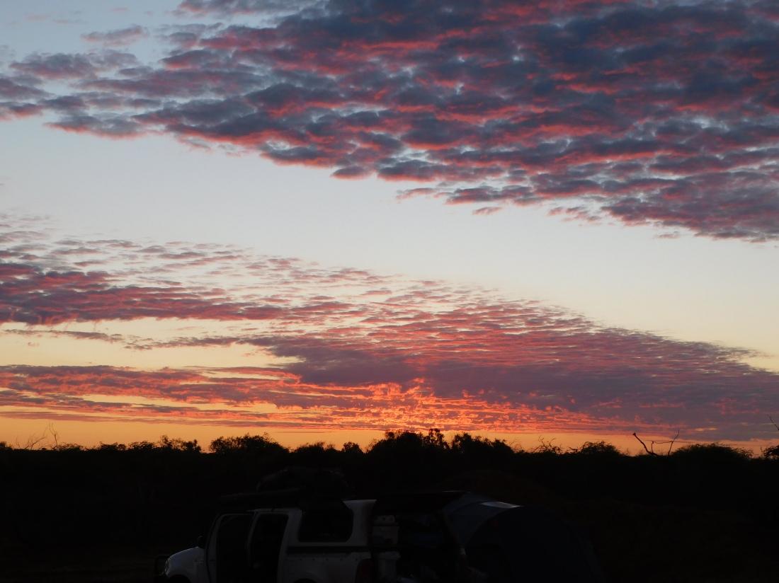 Bibbawarra bore campsite sunset