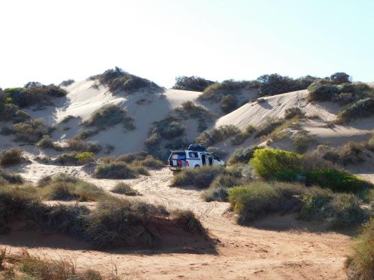 Bowes River sand dunes