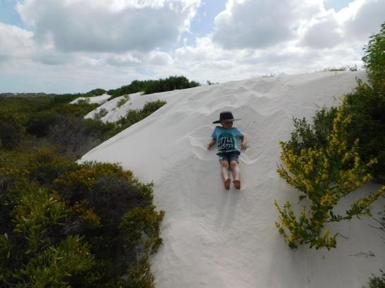 Hangover Bay sand dune cam sliding