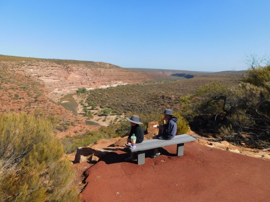 Kalbarri lookout over the gorge