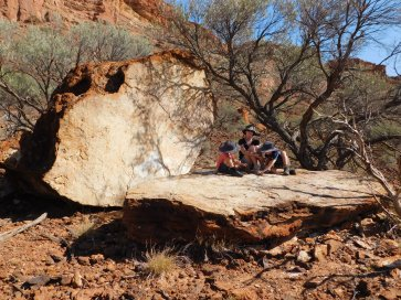 Kennedy Range split rock