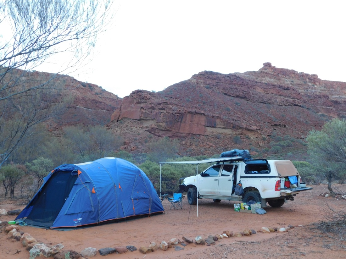 Kennedy Range temple gorge camp