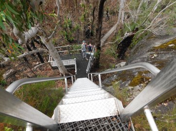 Mt Frankland lookout ladders