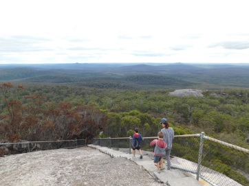 Mt Frankland lookout more steps