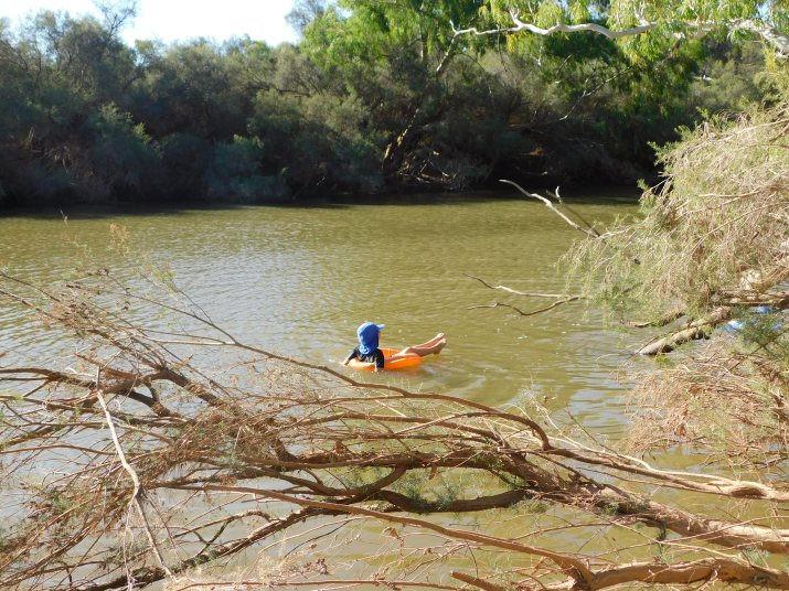 Murchison river Lach floatin around