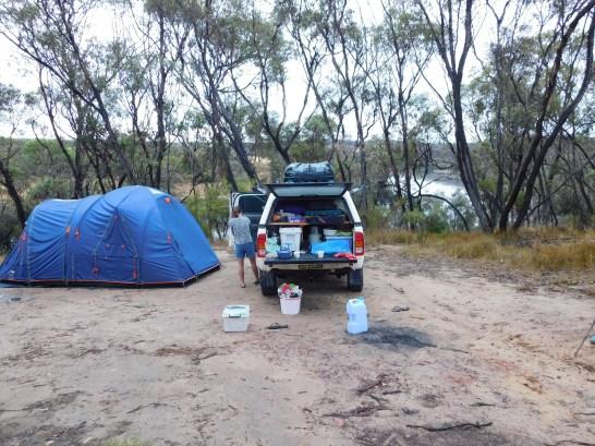 Palingup campsite above the river