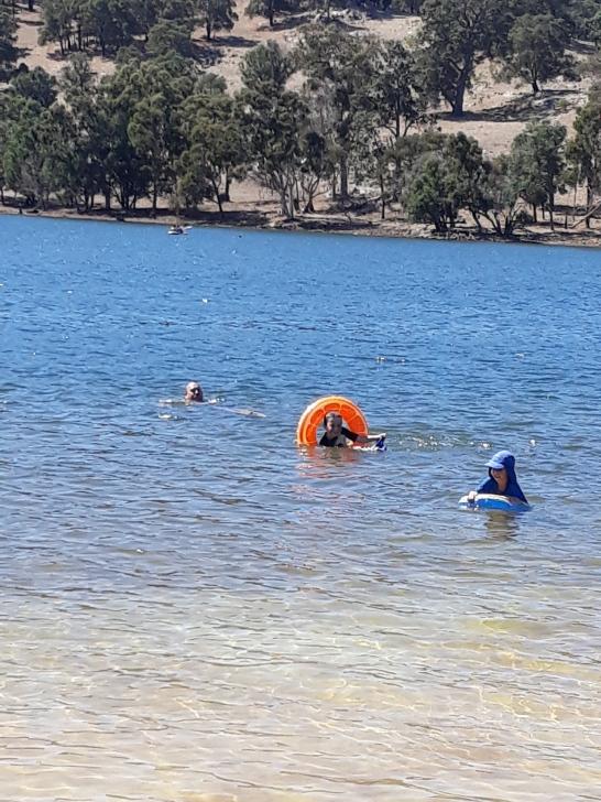 swimming in dam 1