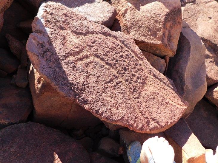Burrup rock stencil