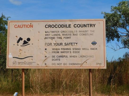 Cape Leveque croc sign