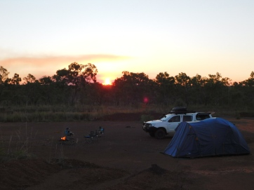 GRR camp along Kalumburu Rd sunset