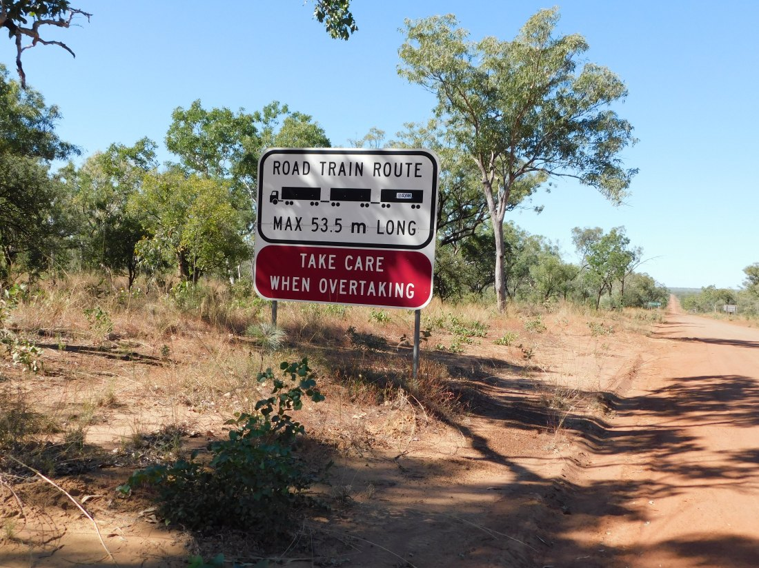 GRR sign 53m road trains