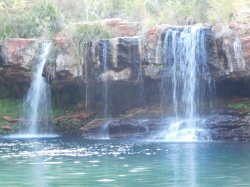 Karijini fern pool waterfall
