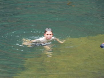 Karijini Lach swimming