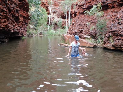 Karijini more of a swim than a bushwalk