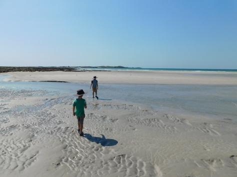 Cape Lev boiys walkin the sandflats