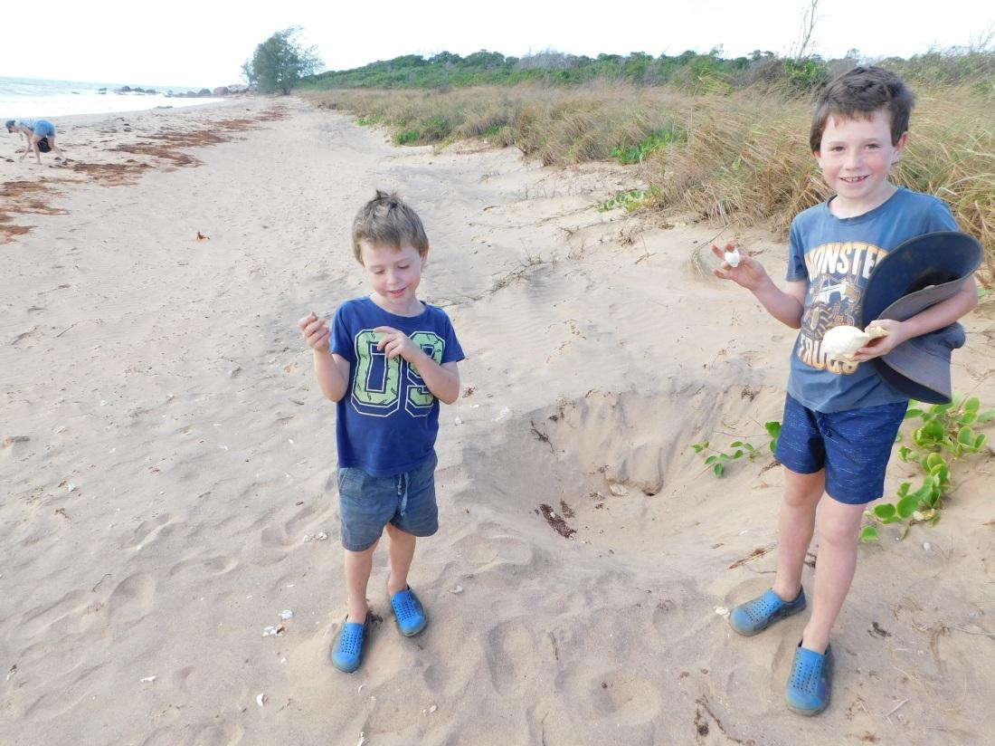 Couburg Peninsular boys found used turtle nest