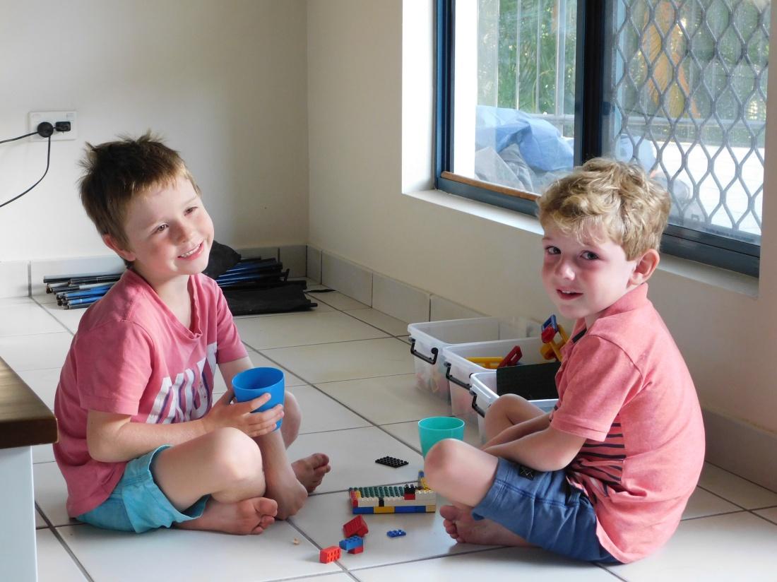 Darwin cousins at play