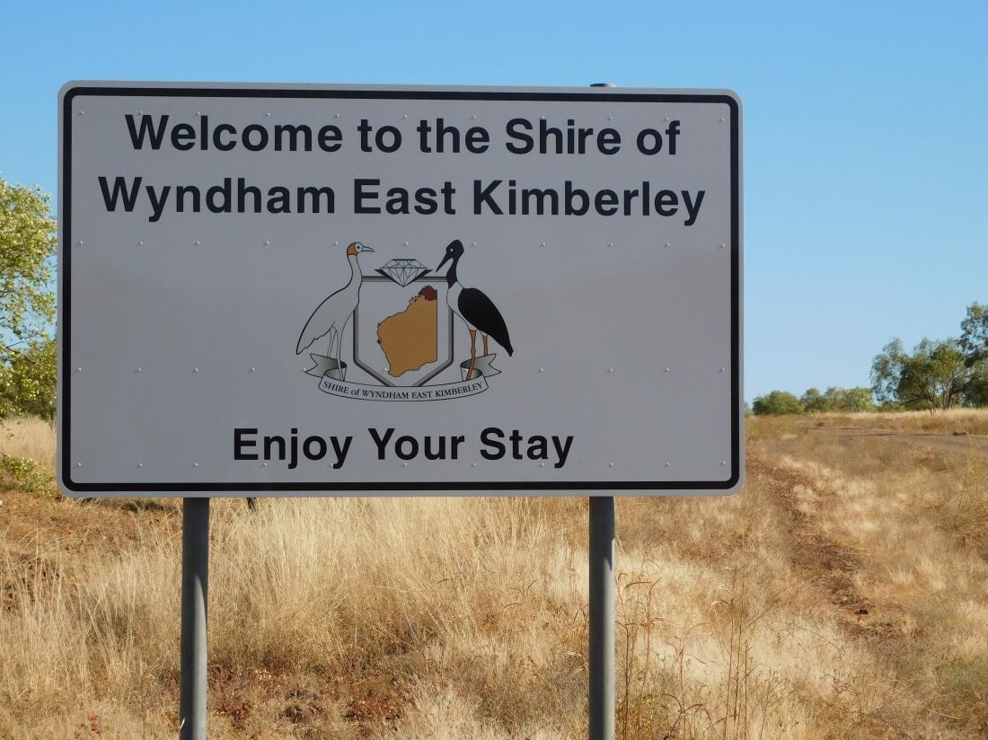 East Kimberley Shire Sign