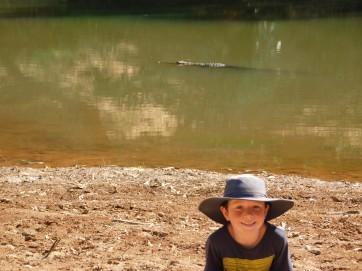 GRR Windjana Lach with a croc