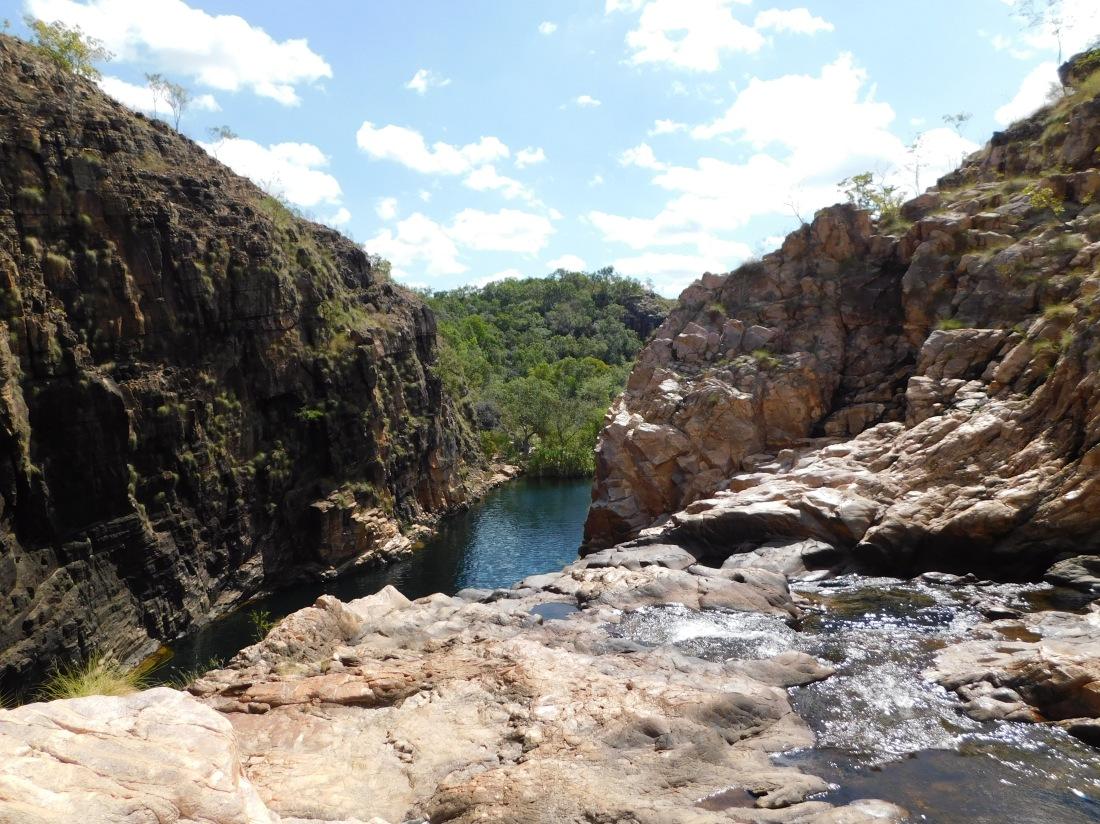 Kakadu Barramundi Gorge view from top of waterfall