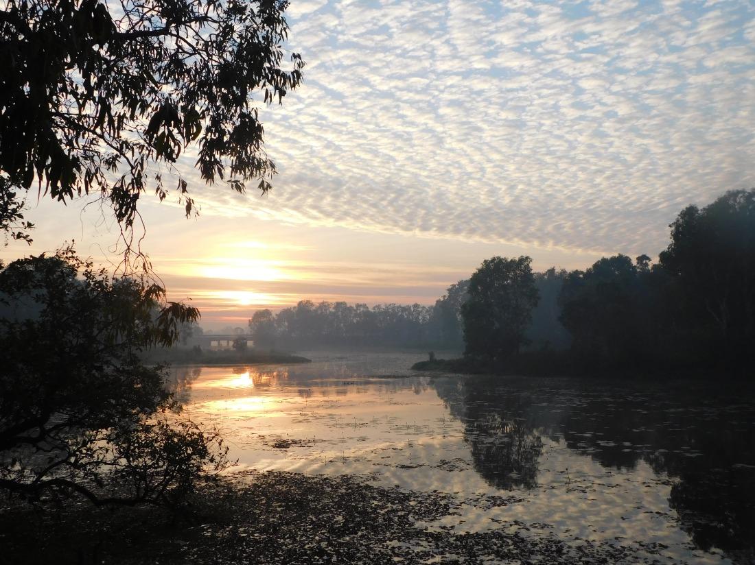 Kakadu Billabong smokey sunrise
