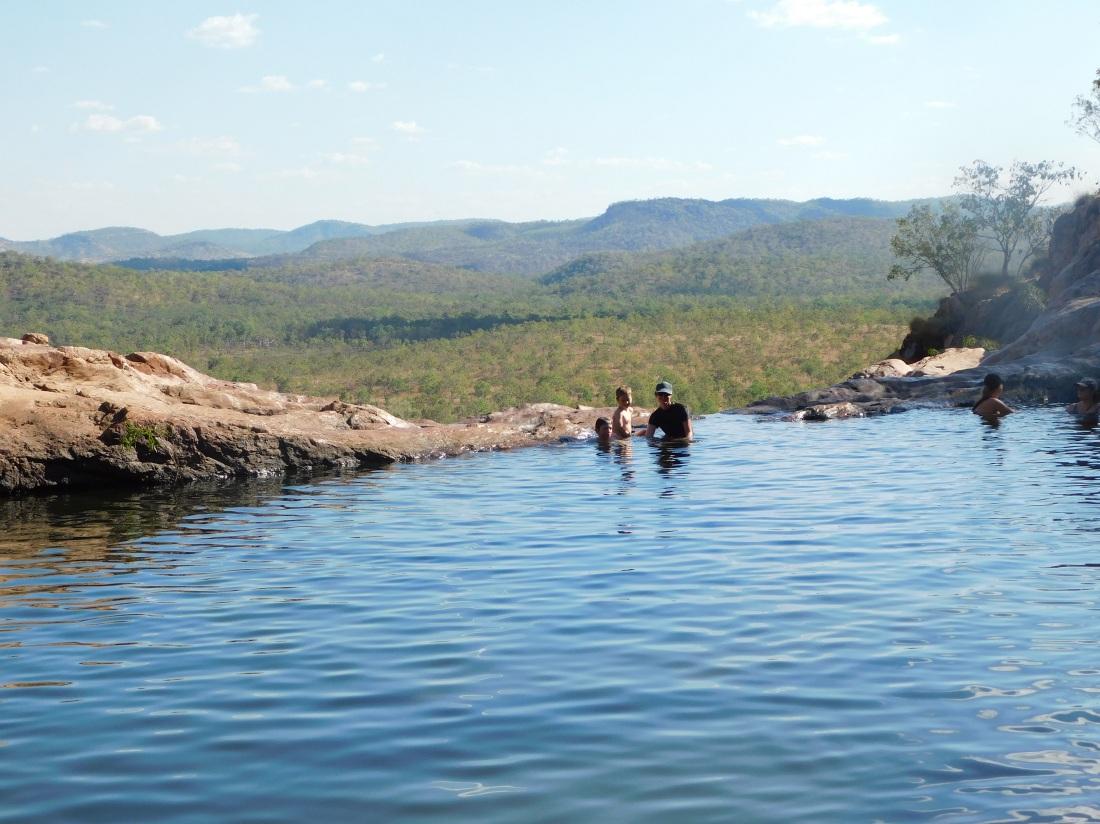 Kakadu swimming at Gunlom infinity pool