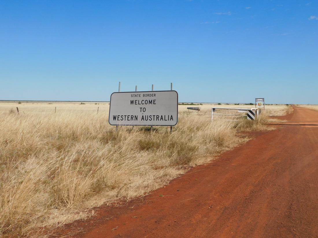 Western Australia Border along Duncan Road