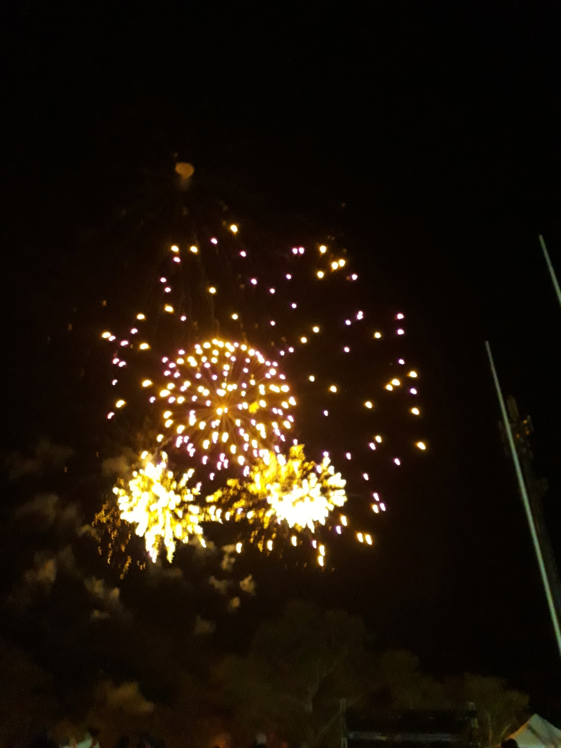 Alice Springs fireworks