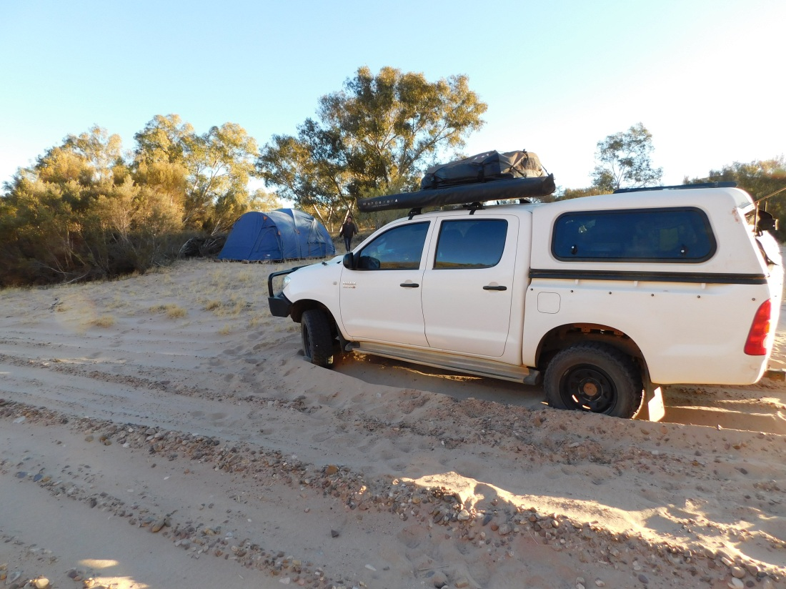 Finke River Camp- near Palm Valley- slightly bogged