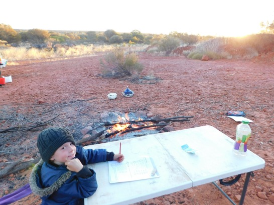 Kings Canyon Camp- schoolwork time