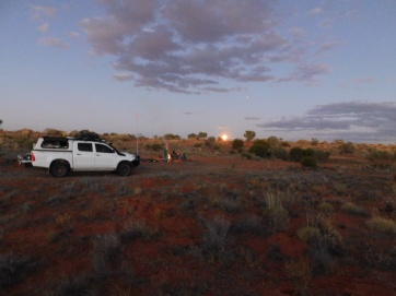 Simpson Desert- camp 2 sunset