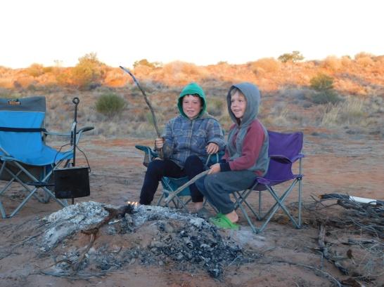 Simpson Desert- campfire