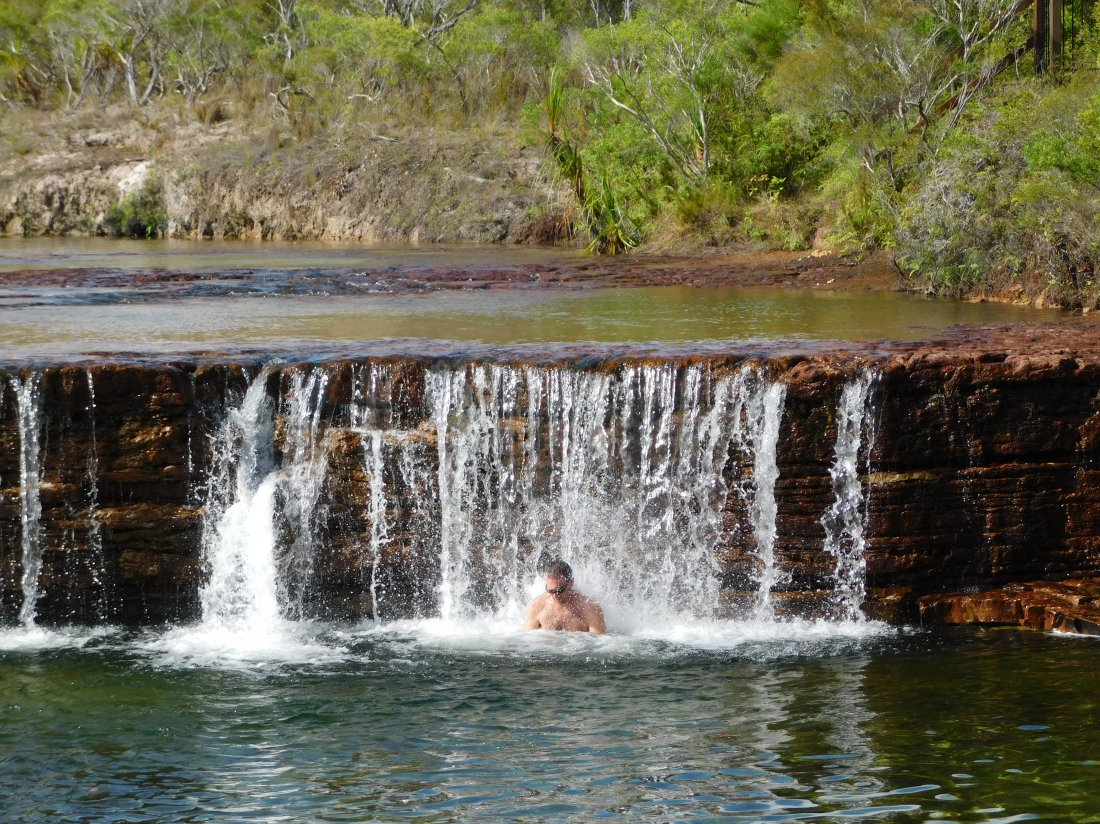 Cape York- Fruit Bat Falls- massage time